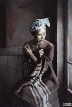 Le Surréalisme tranquille de Li Wentao … ツ— Vist our art's canvas sh… - Art L'art Du Portrait, Portrait Studio, Abstract Portrait, Portrait Paintings, Chinese Painting, Chinese Art, Figure Painting, Painting Art, Painting Abstract