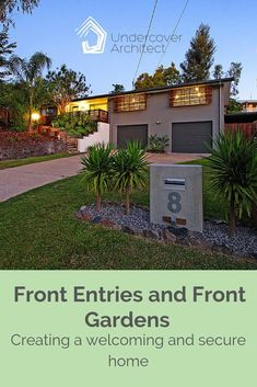 Our homes' front entries and front gardens are how our homes present themselves to the world. Listen here. Outdoor Living Areas, Outdoor Rooms, Outdoor Showers, Outdoor Decor, Front Gardens, Our Environment, Front Entry, Summertime, Swimming Pools