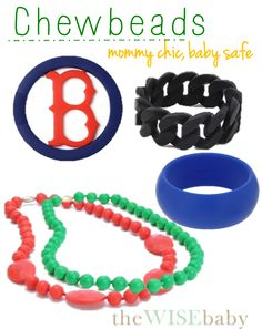 Intrigued by these chewbeads. Maybe I can actually wear some fun jewelry that P can chew on!