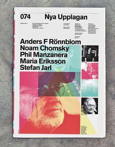 Stunning layouts for Nya Upplagan magazine.