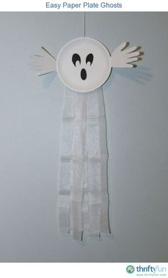These paper plate ghosts are easy to make with your kids and are a quick craft for Halloween.