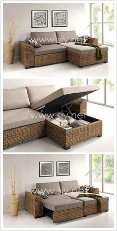 Model:INCAS  Enjoy your day with our Jute Collection. Functional Sofa, Wicker Indoor Furniture