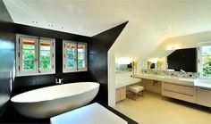Black and white contemporary bathroom