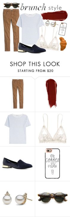 """brunchin'"" by vividelectra ❤ liked on Polyvore featuring Madewell, NARS Cosmetics, T By Alexander Wang, Hanky Panky, ALDO and Casetify"