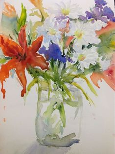 Image result for watercolor flower store