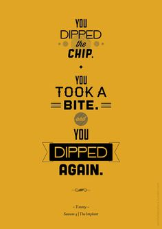 You dipped the chip.  You took a bite and you dipped again.