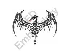 Celtic Dragon_  Machine Embroidery Design