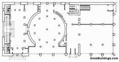 Alvar Aalto: Worker's Club, 1924-25, Ground-floor plan Jyvaskyla, Finland.