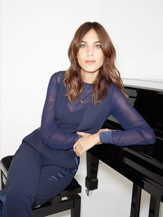 Alexa Chung loves this jumpsuit. It's in midnight blue, but don't let that stop you from staying out later... *Tommy Hilfiger NYE challenge*