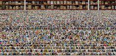 Andreas Gursky, Amazon, 2016, inkjet print, 81 1/2 × 160 1/4 × 2 7/16 inches framed (207 × 407 × 6.2 cm) © Andreas Gursky/Artist Rights Society (ARS), New York/VG Bild-Kunst, Bonn