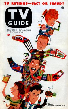 April 1953 TV Guide -- with some of those early comedy pioneers of TV - Lucille Ball-Arthur Godfrey-Milton Berle-Imogene Coca & Sid Caesar History Of Television, Television Tv, Sid Caesar, Milton Berle, 60s Tv, Tv Ratings, Carol Burnett, Old Magazines, I Love Lucy