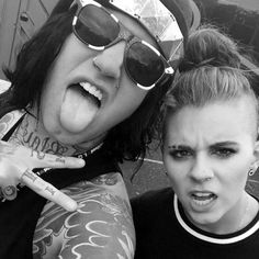 Fronz (Attila) and Lynn Gunn (PVRIS)