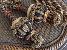 Antique Tie Backs. Tassels. Curtain Holders. by JacquelineMcEwan