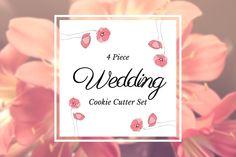 4 Piece Wedding Cookie Cutter Pack