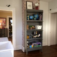Metal Barrister Bookcase in the Kitchen
