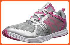 cheaper 365fa f2ec2 Reebok Women s Sublite Studio Flame Low Training Shoe,Baseball Grey Silver  M US