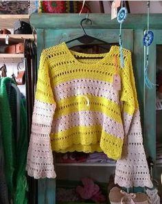 Blanket, Crochet, Sweaters, Fashion, Moda, Fashion Styles, Ganchillo, Sweater, Blankets