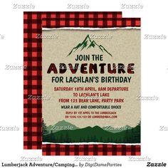Lumberjack Adventure/Camping Party Invitation