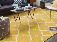 Win a Hand Woven Ivory and Gold Rug