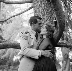 Cary Grant and Suzy Parker in a publicity still from 'Kiss Them for Me', June 1957 | Flickr - Photo Sharing!