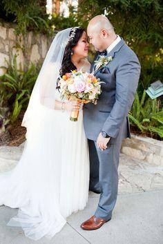 Bride in @watterswtoo Jacinda gown.