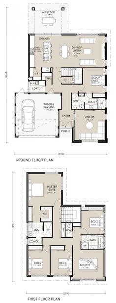 This impressive two storey 5 x 3 home design, is perfect for entertaining and has plenty of space for all to stay. Upstairs you'll find the Master Suite with generous walk in robe, and ensuite with his and her vanities. The 3 minor bedrooms all feature built in robes, and have access to their own private activity …