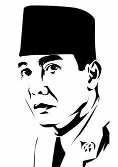 Bung Karno by astayoga on DeviantArt Portrait Sketches, Art Sketches, Graphic Design Illustration, Illustration Art, Quran Wallpaper, Indonesian Art, Fruit Painting, Stencil Art, Line Art