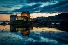 The stunning Eilean Donan Castle in the beautiful West Highlands of Scotland. Eilean Donan, Tower Bridge, My Images, Cathedral, Castle, Travel, Beautiful, Highlands, Landscape