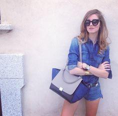 She and denim #TheBlondeSalad #ChiaraFerragni