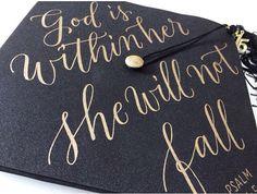 Graduation cap! Bible verse psalms.