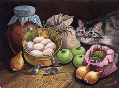 Cat&Mouse paintings. Tatyana Rodionova