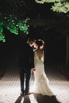 Evening wedding at Lewis Ginter Botanical Garden, Richmond, VA. Photo by Andrew & Tianna Photography.