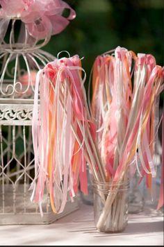 Eléments de décoration - Thème rose poudré/pêche/corail
