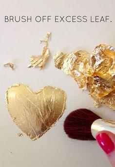 DIY gold leaf art tutorial | LiveLoveDIY