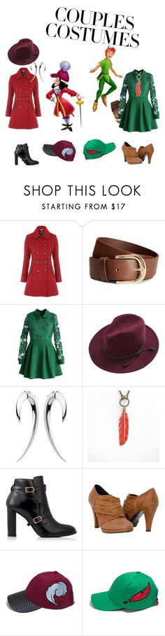 """""""Peter Pan and Captain Hook"""" by dakenboy ❤ liked on Polyvore featuring H&M, Chicwish, Shaun Leane and Tommy Hilfiger"""