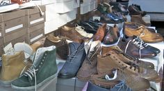 """The clothing market is open Fridays and Saturdays in Bologna - """"Solo Travel to Bologna and Emilia Romagna – 32 Tips"""" by Teske Goldsworthy Mullaly Italy Travel, Italy Trip, Bologna, Solo Travel, Timberland Boots, Combat Boots, Stalls, Shops, Shopping"""