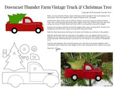 vintage christmas tree Vintage Red Truck with Christmas Tree Christmas Sewing, Christmas Projects, Holiday Crafts, Vintage Christmas, Christmas Wreaths, Christmas Crafts, Felt Projects, Christmas Ideas, Felt Christmas Decorations