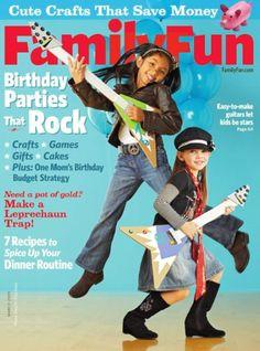 Magazines: FamilyFun (1-year auto-renewal)