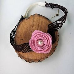 Hair pink flower girl headband Photo prop floral wreath hair
