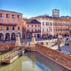 Ferrara vista dalla Via Coperta del Castello Estense - Instagram di @Arianna Pancaldi