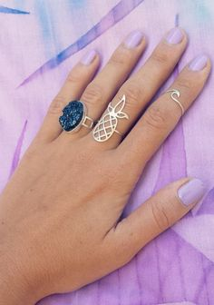 Sterling Silver Pineapple Rings