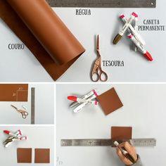 Para quem gosta de proteger seus móveis e usar a imaginação, aí vai uma idéia de DIY: porta-copos de couro. Crie! Divirta-se!