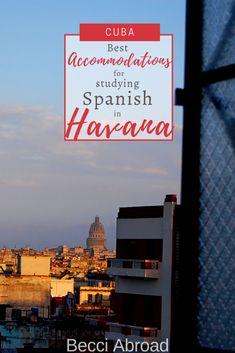 Accommodation near the University of Havana - Becci Abroad #Cuba #Havana #Spanish #studySpanish #SpanishCourses #UniversityofHavana #accommodation Cuba Travel, Travel Usa, Group Travel, Family Travel, Latin America, South America, Travel Articles, Travel Tips, Amazing Destinations