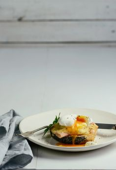 From The Kitchen: Bagel with Melted Gruyere, Ham and a Poached Egg
