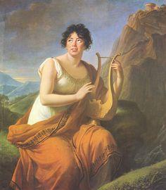 Madame de Staël - Corinne - Élisabeth Vigée Le Brun 1808