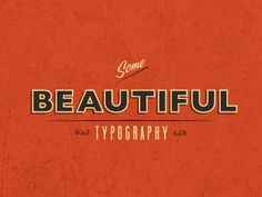 Inspired by all the Beautiful Typography...  by Benjamin Garner