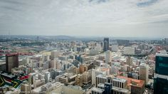The Johannesburg Central Business District (CBD) as seen from the observation deck of the Carlton Centre. At 50 storeys high, this skyscraper has been Africa's tallest building since 1973. Like the CBD, it has seen better days but is now attracting more visitors. Central Business District, Better Day, San Francisco Skyline, South Africa, Attraction, Skyscraper, Centre, Deck, Building