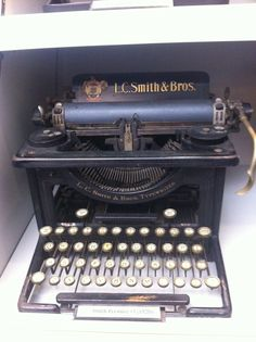 From the American Press Institute's typewriter collection, a Smith Premier #10 from the 1930s.