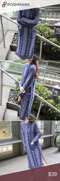 Longline sweater dress Longline sweater dressBoutique 💝 measurement see the last pic. NWOT. ONE SIZE Sweaters