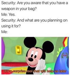 Mickey Mouse Clubhouse Memes going to be strong : MemeEconomy Dankest Memes, Funny Memes, Hilarious, Jokes, Videos Funny, Mickey Mouse Memes, Lol, Know Your Meme, Funny Pins
